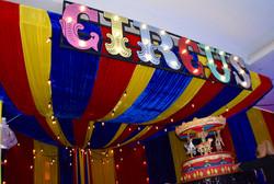 Light up Circus Sign Prop Hire