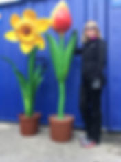 Giant Flowers Prop Hire