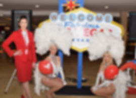 Las Vegas Themed Prop and Showgirl Hire
