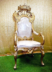 Gold Throne Prop Hire. King or Queen of the Jungle
