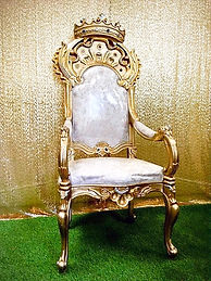 Gold Throne Prop Hire. King or Queen of