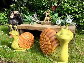 Giant Friendly Snail Statues