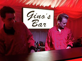 Gino's Bar. Personalised Event Sign London