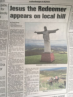 Jesus Christ appears on Gwent Hill, Twmb