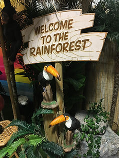 Welcome to the Rainforest Sign Prop