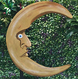 Crescent Moon Prop Photo Wall