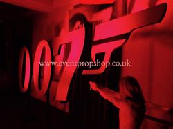 007 Logo Prop Hire Gold