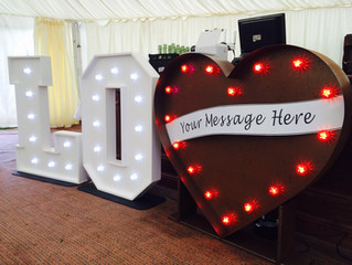 NEW: LED Heart for Weddings in Wales