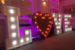 Light up wedding letters red heart south