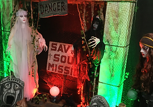 Creepy Halloween Theatrical Scene, Ghost