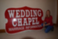 Wedding Chapel Sign Prop Hire