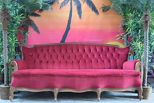 Red Velvet Sofa Hire