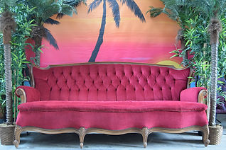 Red Velvet Sofa Hire