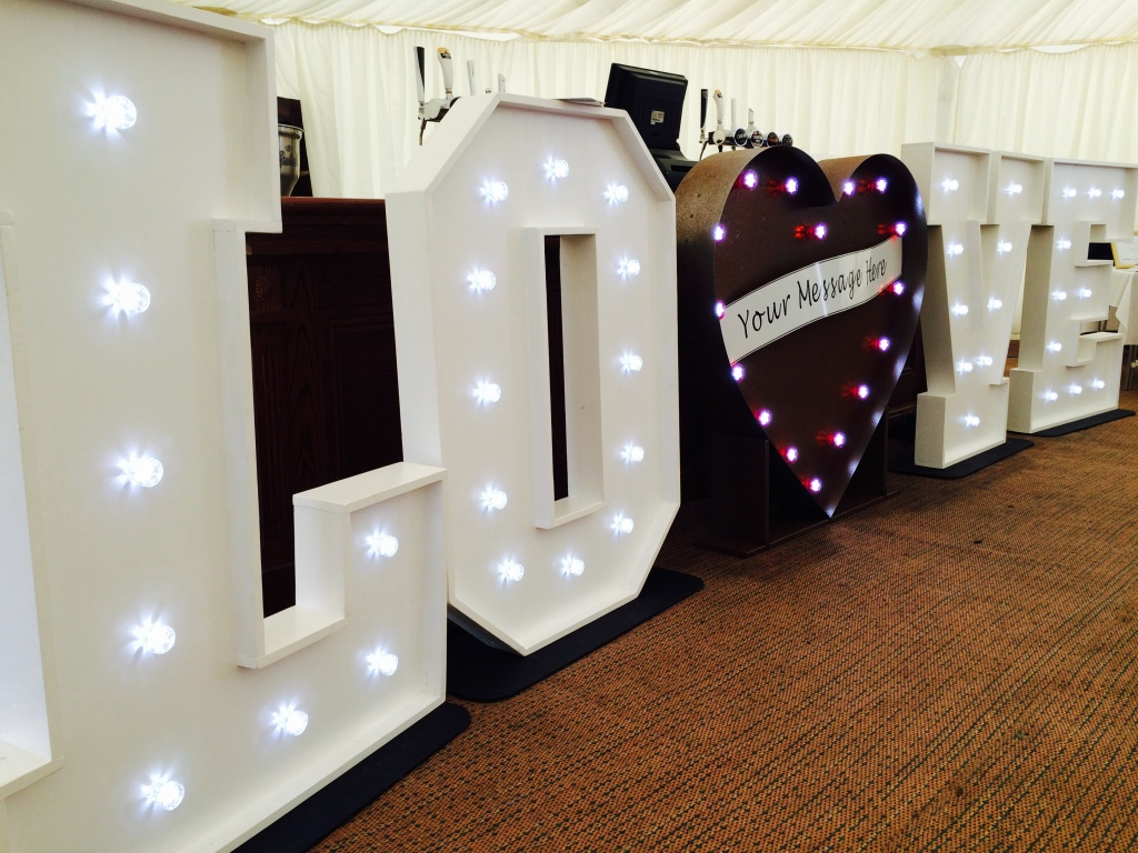 LOVE Letter Lights with LED Heart