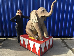 Elephant Prop on Plinth