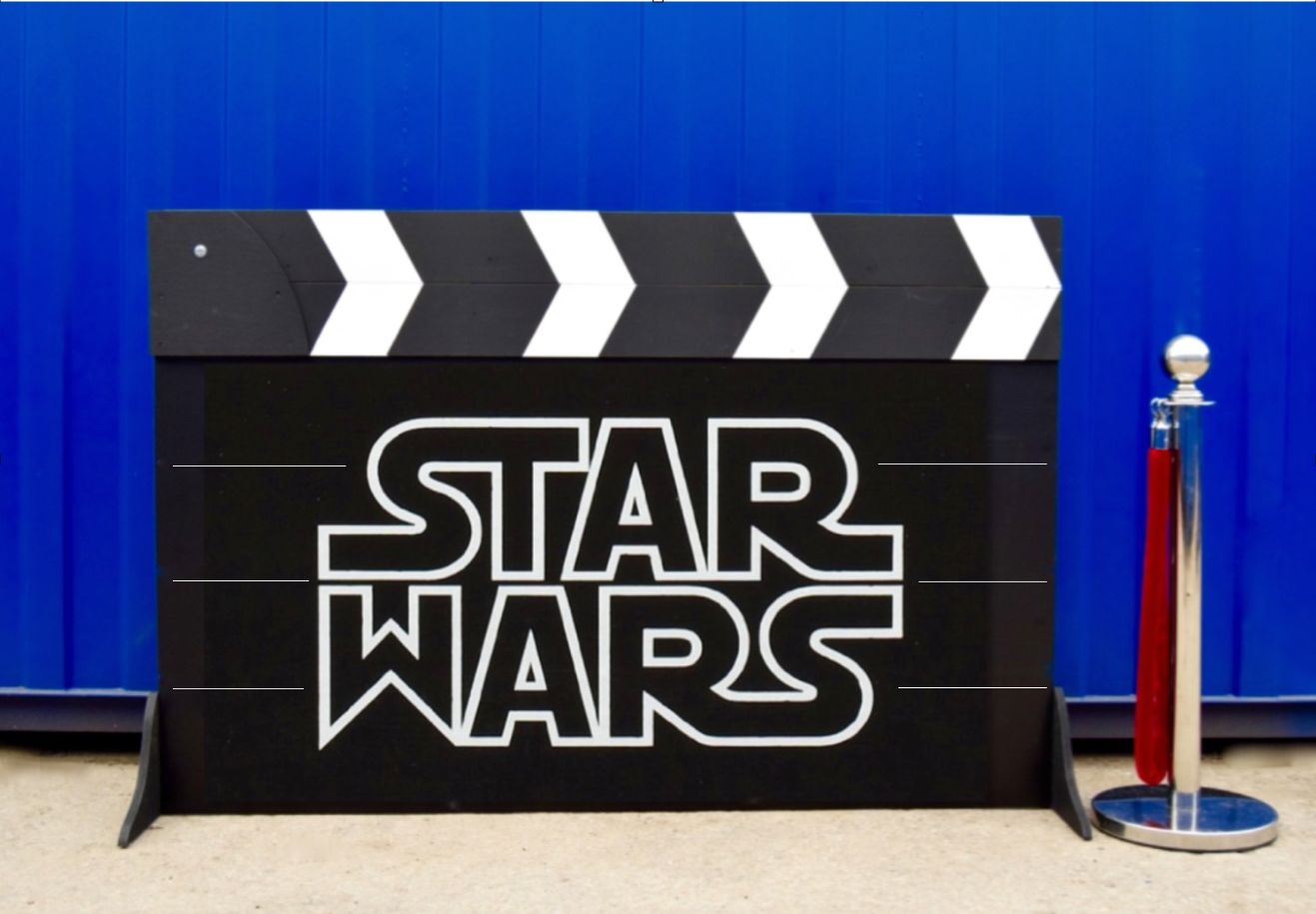 Sar Wars Clapper Board Prop
