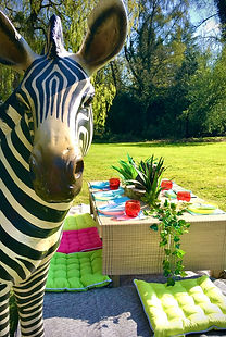 Children's party Pallet tables and Cushions