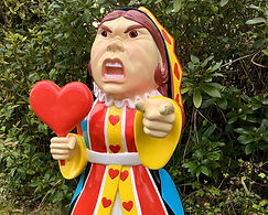 Queen of Hearts Lifesized Statue