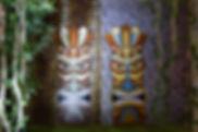 Jungle Tiki Mask Props