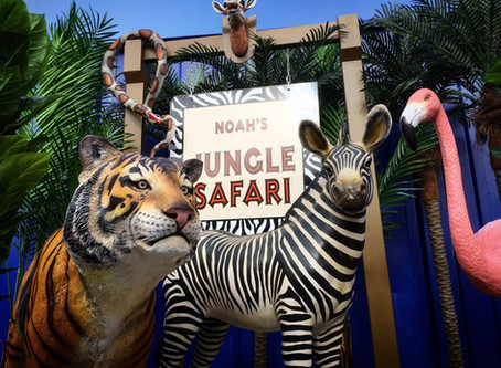 Jungle Safari Prop Hire for Children's Parties.