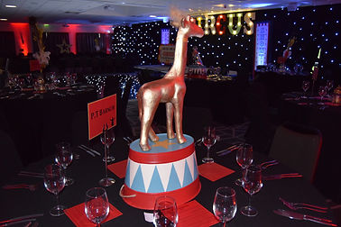 Circus Table Centres to hire