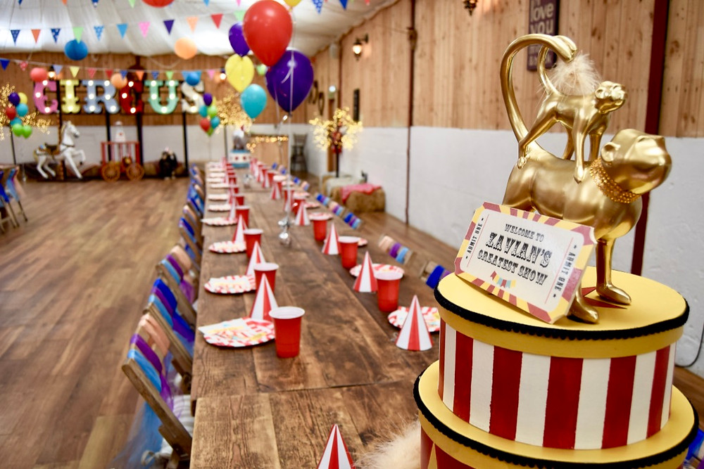 Circus Prop Hire, including The Greatest Showman inspired Prop Hire for first birthday parties
