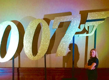 007 gold glitter prop hire from Event Ca