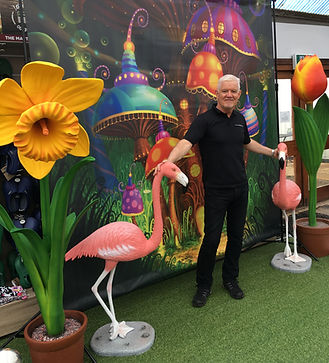Giant Flowers and Mushroom Prop Hire