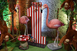 Asian 1st Birthday Jungle Themed prop Hire