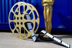 Giant Movie Reel Spool Prop