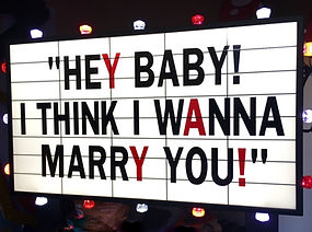 Hey Baby, I Think I wanna Marry You Prop