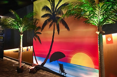 Tropical Beach Sunset Photo Wall