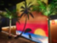 Tropical Beach Sunset Photo Wall