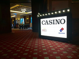 Casino Themed Signage Hire