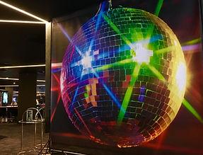 Giant Glitter Ball Backdrop Hire
