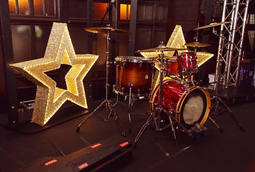 Gold Glitter Light up Star Hire