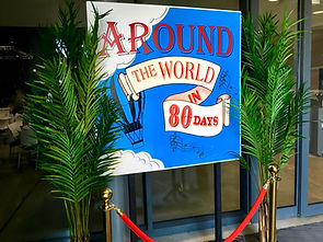 Around The World Themed Prop Hire