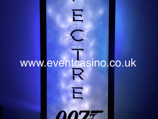 SPECTRE, James Bond, Secret Agent Prop Hire.