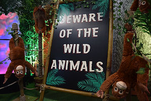 Beware of the Wild Animals Sign Hire