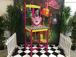 Alice in Wonderland Big Chair Prop Hire