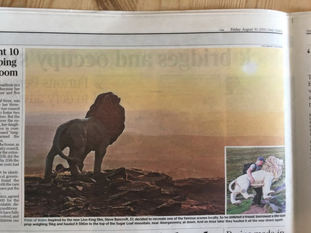 Our very own 'Lion King' Adventure makes the Headlines!