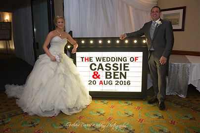 Wedding Cinema Sign Hire