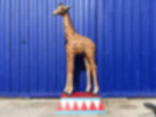 Giraffe Statue Hire on Circus Plinth