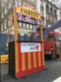 circus ticket booth prop hire