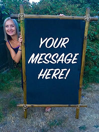 Your Message Here. Personalised Sign Hir