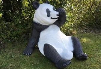 Giant Panda Life Sized Statue