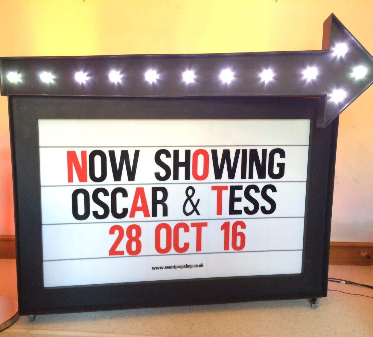 Cinema Sign Prop Hire
