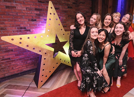 Giant Gold Glitter Star, Red Carpet Hire