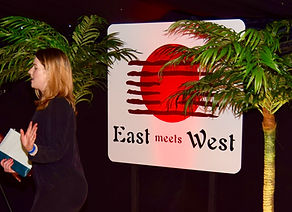 East Meets West Prop Sign Hire