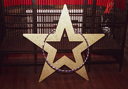 Large Gold Glitter Star Hire Circus